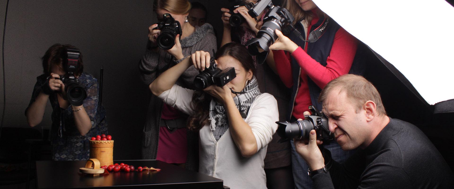 процесс обучения студийной фотосъёмке
